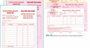 In hóa đơn bán lẻ 3 liên rẻ tại Hà Nội