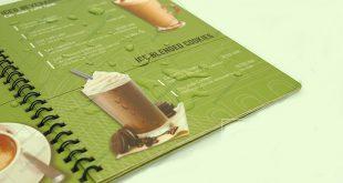 In menu nhựa cho nhà hàng quán cafe đồ uống